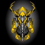 Cerfs communs d'or de fer illustration de vecteur