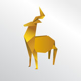Cerfs communs d'origami Illustration Libre de Droits