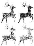 Cerfs communs d'Ornamental de bande dessinée Image stock