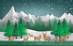 Cerfs communs dans la forêt Images libres de droits