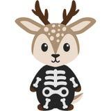 Cerfs communs dans le costume squelettique illustration de vecteur