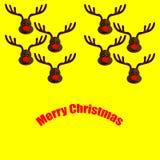 Cerfs communs de Brown sur le jaune illustration de vecteur