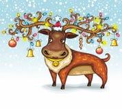 Cerfs communs de Noël Photo libre de droits