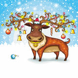 Cerfs communs de Noël Photographie stock