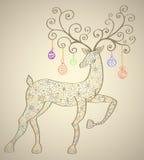 Cerfs communs de Noël illustration de vecteur