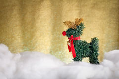 Cerfs communs de Noël sur la neige jpg Images libres de droits