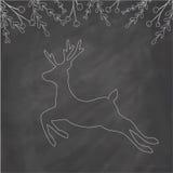 Cerfs communs de Noël sur le tableau Image libre de droits