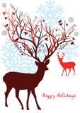 Cerfs communs de Noël, vecteur Images libres de droits