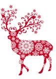 Cerfs communs de Noël, vecteur Photographie stock libre de droits