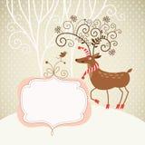 Cerfs communs de Noël Image stock