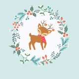 Cerfs communs de Noël Photos libres de droits