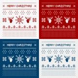 Cerfs communs de pixel et arbres de Noël Images libres de droits