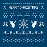Cerfs communs de pixel et arbres de Noël sur le fond blanc Photos libres de droits