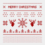 Cerfs communs de pixel et arbres de Noël sur le fond blanc Photo stock
