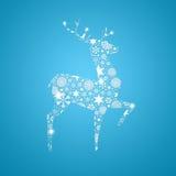 Cerfs communs de silhouette. Carte de Noël illustration libre de droits