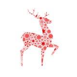 Cerfs communs de silhouette. Carte de Noël illustration de vecteur
