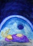 Cerfs communs de sommeil Photographie stock libre de droits