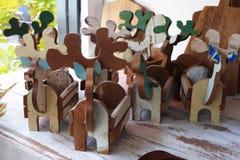 Cerfs communs en bois Photos stock