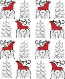 Cerfs communs ethniques d'ornement dans la forêt illustration libre de droits