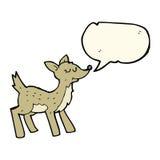 cerfs communs mignons de bande dessinée avec la bulle de la parole Image stock