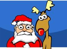 cerfs communs Santa de Claus illustration de vecteur