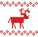 Cerfs communs simples de vecteur rouge d'isolement sur le fond blanc Photo libre de droits