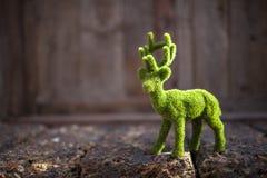 Cerfs communs verts de pluie artificielle Photographie stock