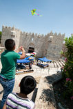 Cerfs-volants au-dessus de Jérusalem Images libres de droits