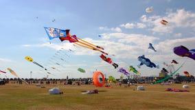 Cerfs-volants au festival, Portsmouth, Hampshire, Angleterre Image libre de droits