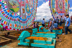Cerfs-volants et tombes géants, tout le jour de saints, Guatemala Images stock