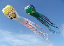 Cerfs-volants géants de poulpe Images libres de droits