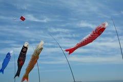 Cerfs-volants montant dans le ciel Image stock