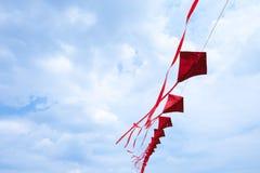 Cerfs-volants rouges Photographie stock