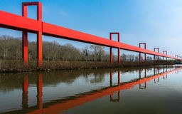 Cergy - de rode gateway Royalty-vrije Stock Afbeelding