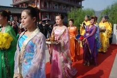 Cerimónia chinesa do memorial público do festival de Qingming foto de stock