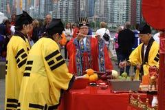 Cerimónia da bênção do dragão Fotos de Stock Royalty Free