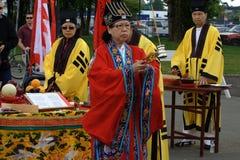 Cerimónia da bênção do dragão Fotografia de Stock