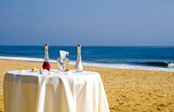 Cerimónia de casamento da praia Fotografia de Stock Royalty Free