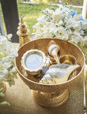 Cerimónia de casamento tailandesa Imagem de Stock Royalty Free