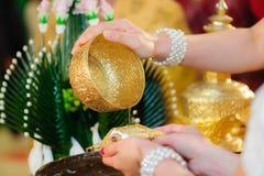 Cerimónia de casamento tailandesa Imagem de Stock