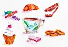Cerimónia de chá doces imagens de stock royalty free