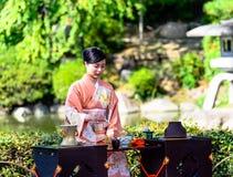 Cerimónia de chá japonesa imagens de stock royalty free