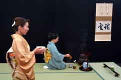Cerimónia de chá japonesa Fotografia de Stock