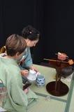 Cerimónia de chá japonesa Imagens de Stock