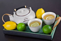 Cerimónia de chá verde Fotografia de Stock Royalty Free