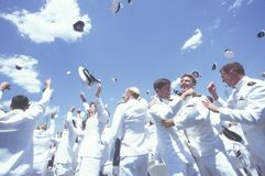 Cerimónia de graduação da Academia Naval dos E.U. fotos de stock