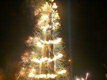 Cerimónia de inauguração de Burj Khalifa (Burj Dubai) Imagem de Stock