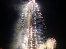 Cerimónia de inauguração de Burj Khalifa (Burj Dubai) Imagens de Stock