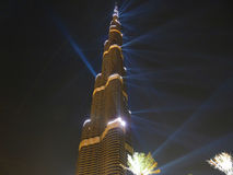 Cerimónia de inauguração de Burj Khalifa (Burj Dubai) Fotografia de Stock Royalty Free