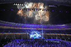 Cerimónia de inauguração do estádio olímpico em Kyiv Imagem de Stock